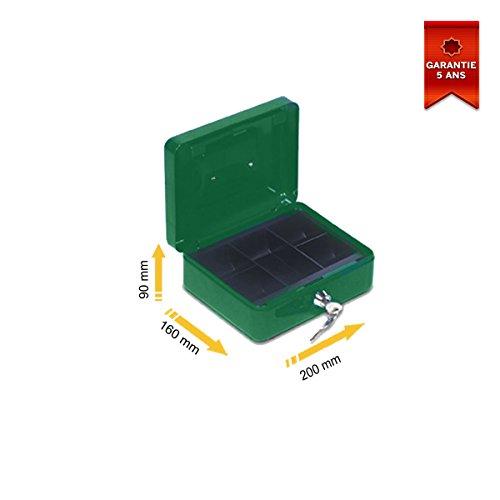 Stark PV02 - Cassetta portamonete, 200 x 90 x 160 mm, colore: Verde