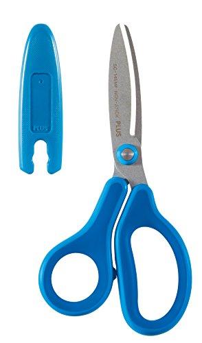 PLUS Japan, Schere Fitcut Curve Kids in Blau für Rechtshänder, 1er Pack (1x 1 Schere)