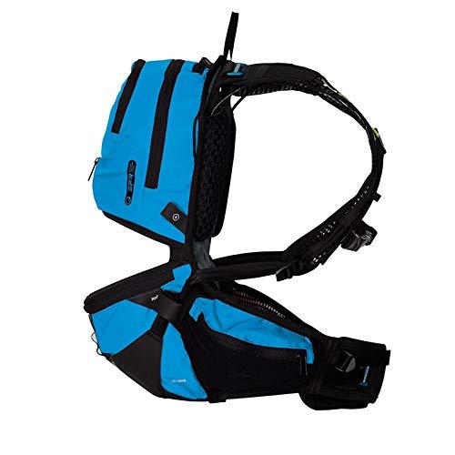 Ergon BE3 Daypack Rucksack Outdoor Enduro 10L Fahrrad Hüftgurt Trinkblase Regenhülle Tasche, 45000800, Farbe blau, Größe S