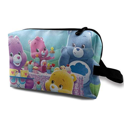 Care Bears Bolsa de cosméticos de viaje bolsa de almacenamiento de maquillaje, impermeable, para hombres y mujeres