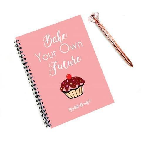 Afslanken Wereld Compatibel 8 Week Motivationele Planner voor Gewichtsverlies - Bak uw eigen toekomst & Diamante Rose Gold Pen