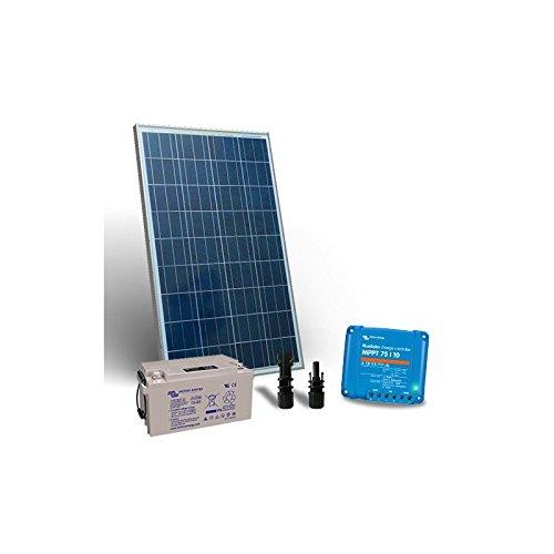 puntoenergia Italia–Kit solar 100W 12V Pro2Panel Fotovoltaico Regulador 10A MPPT batería 90Ah–ksp2–100–12-b90-avf