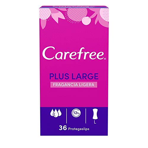 CAREFREE protege slips plus large caja 36 uds