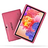 Tablet da 7 Pollici,LAMZIEN Tablet per Bambini Quad Core 1GB+16GB DDR3 ROM HD Display Android OS Dual-Camera Wi-Fi Bluetooth Google Play,ROSA