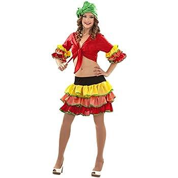 Disfraz de Rumbera (Talla S): Amazon.es: Juguetes y juegos
