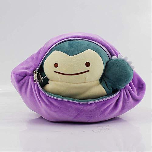 JIAL Snorlax Pokemon Plüsch-Spielzeug 30Cm spezieller Entwurf Ditto Metamon Inside-Out Ditto Wird gefüllte Puppe-Kissen-Kissen Chongxiang