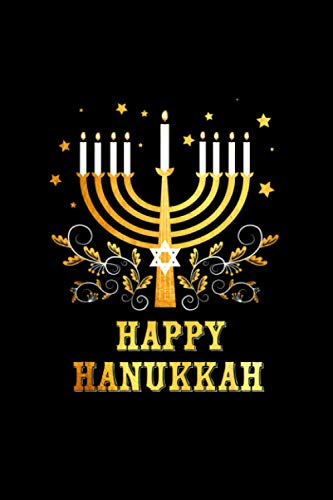 Happy Hanukkah Chanukkah Matching Christmas Pyjama Notebook 114 Pages 6''x9'' College Ruled