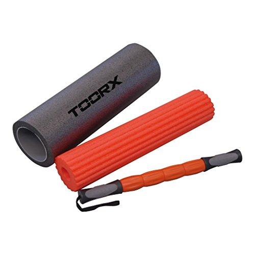 Toorx, Rullo Massaggio 3 in 1 AHF-091 Unisex adulto, Nero, 16x16x49