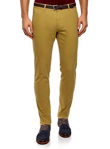 Pantalones chinos amarillo mostaza para hombre