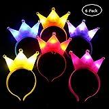 UChic 6 ST?CKE Crown LED Stirnband Blitzlicht Luminous f?r Halloween Konzert Leistung Party Hochzeit Spielzeug Kopfschmuck Erwachsene Kinder (Farbe Randmoly) -
