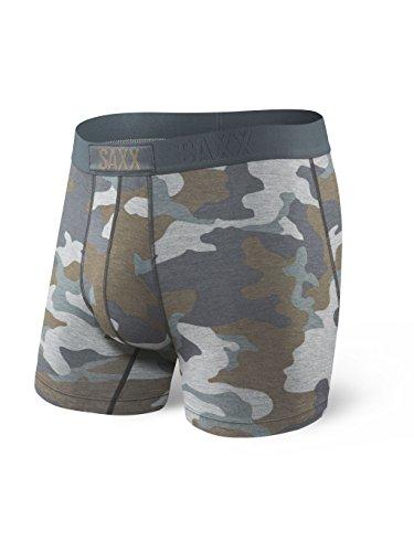 Saxx Underwear Men's Boxer Briefs – Vibe Men's Underwear – Boxer Briefs with Built-in Ballpark Pouch Support – Underwear for Men,Grey Supersize Camo,Large