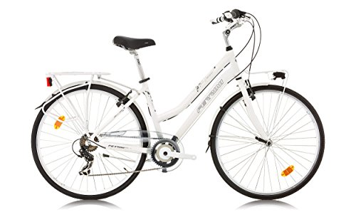 Damesfiets. Ferrini Beverly Lady wit. BK15FE5447 Rij9.