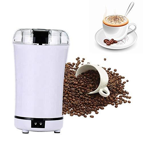 Electric Coffee Grinder granen Grinder met roestvrijstalen mes Rice Corn Grain Coffee Tarwe voor huis en Office Portable Gebruik,White