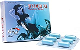 RYDER XL Male Performance Supplement and Testosterone Booster (6 Capsules)