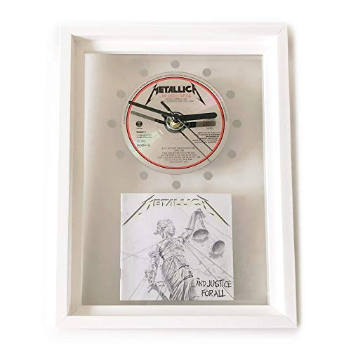METALLICA - .And Justice For All: GERAHMTE CD-WANDUHR/Exklusives Design