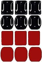 12 حزمة خوذة 3M لاصقات الوسائد اللاصقة شقة منحنية التثبيت مجموعة الملحقات لـ GoPro Hero 8 7 6 5 4 3+ 3