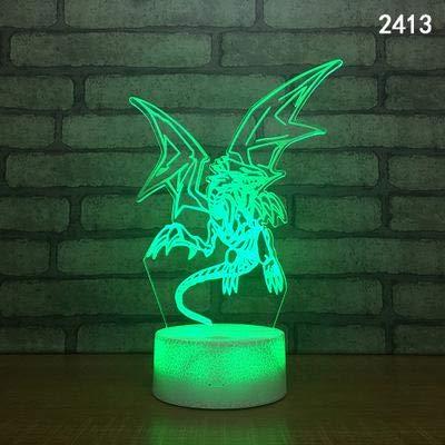 Cartoon Dinosaurier Fliege Drache Monster Tier 3D Tischlampe Nachtlicht Kreativ Led Geschenk Schöne Süße Kinderspielzeug Dekoration