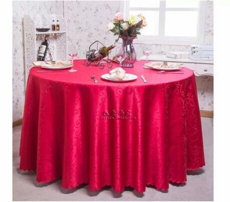 BLUELSS L'Europe style accueil nappes nappe ronde blanche imprimée nappe nappe crochet overlay mantel banquet de mesa, rouge, 240cm