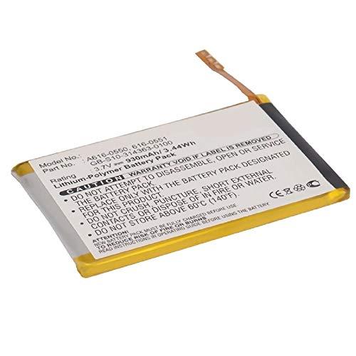 subtel® Batería Premium Compatible con Apple iPod Touch 4 Gen. - A1367 (930mAh) 616-0550,616-0551,GB-S10-314363-0100,616-0552 bateria de Repuesto, Pila reemplazo, sustitución