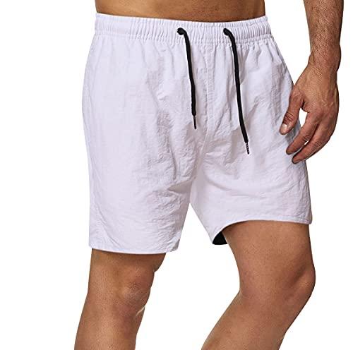 costume mare uomo hawaiano Pantaloncini Mare Uomo Costume da Bagno Uomo Costumi da Bagno Short Mare Shorts Mare Uomo Costume a Pantaloncino Uomo Pantaloncini Spiaggia Surf Piscina Uomo Beach Shorts Men Taglie Forti Bianco M