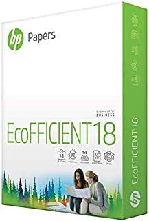 HP Printer Paper | 8.5 x 11 Paper | EcoFFICIENT 18 lb | 1 Ream - 500 Sheets | 92 Bright | Made in USA - FSC Certified | 08...