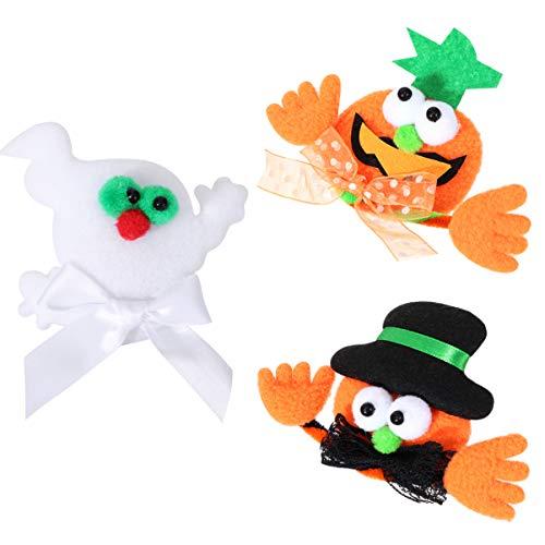 STOBOK 5 broches de Halloween para Halloween, fantasma, calabaza, novedad de dibujos animados, para Halloween, Navidad, fiestas, regalos