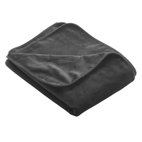 Liberator Lush Throw Moisture-Resistant Blanket, King Size, Black