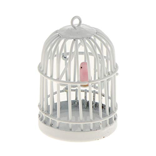 QYTSTORE 1 jaula de pájaro hueco Jaula de pájaros de metal hecho a mano, Tamaño: Diámetro base 2.7 cm, Altura 4 cm, Pulsera de bricolaje Collar de joyería Colgante Pendiente Miniatura Decoración del h