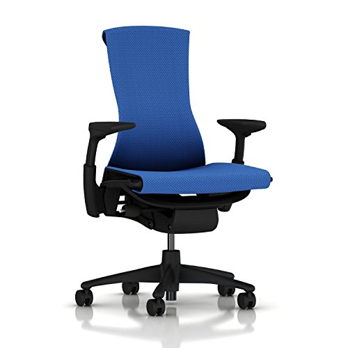 Herman Miller Embody Ergonomic Office Chair | Fully Adjustable Arms and Carpet Casters | Berry Blue...