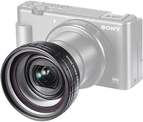 ULANZI Select Creative ZV-1 Weitwinkel-/Makro-Zusatzobjektiv mit 52 mm Durchmesser, kompatibel mit Sony ZV-1 Kamera, 2-in-1 extra Objektivaufsatz mit starker selbstklebender Rückseite, WL-1
