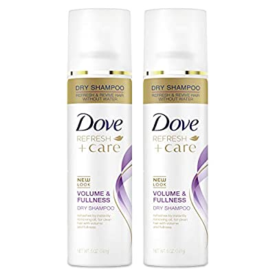 Dove Dry Shampoo for Oily Hair Volume & Fullness for Refreshed Hair 5 oz 2 Count