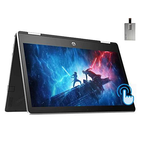 "2020 HP Pavilion x360 2-in-1 11.6"" HD Touchscreen Laptop Computer, Intel Pentium N5000, 4GB RAM, 1TB SSD, HD Webcam, Bang&Olufsen Audio, Intel UHD Graphics, Win 10S, Silver, 32GB Snow Bell USB Card"
