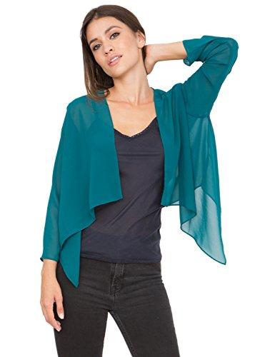 likemary Bolero Coprispalle Elegante di Chiffon Trasparente Blue Verde