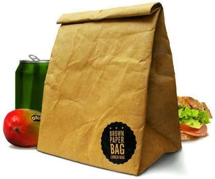 I'M A Brown Paper New product Bag Reusable Closure Kansas City Mall Tea Lunch Insulated