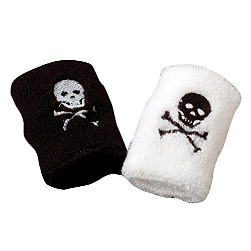 NOVELTY GIANT WWW.NOVELTYGIANT.COM Set of 2 Adult Pirate Terrycloth Wristbands Sweatbands