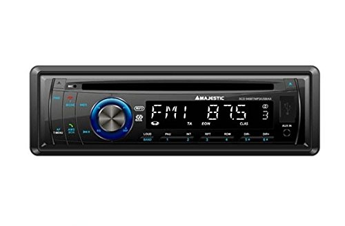 Majestic SCD 645 BT MP3 USB AX – PLL FM RDS Bluetooth Auto Stereo, CD/MP3-speler. Invoer: USB/SD/AUX, 180 W (45 W x 4 Ch), Zwart