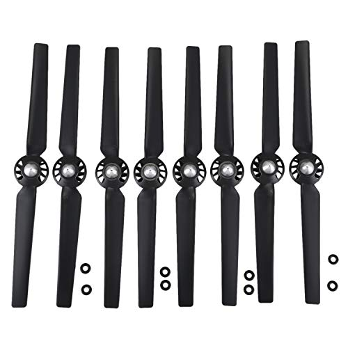 JVSISM 8Pcs Propeller for Yuneec Q500 Typhoon 4K Camera Drone Spare Parts Quick Release Self Locking Props Replacement Blade(Black)