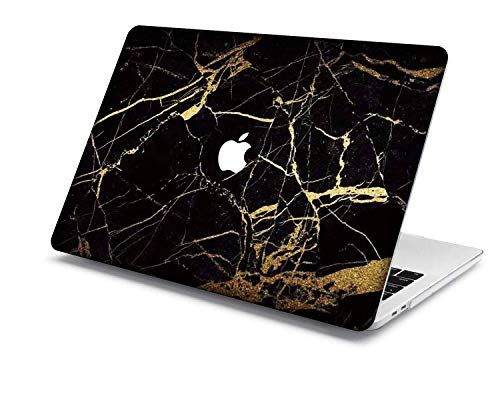 Old MacBook Air 13 Case Model:A1466/A1369,QiuHuiCase Plastic Shell Cover Only Compatible Release 2010-2017 Old MacBook Air 13 inch (No Touch ID) (Marble A 26)