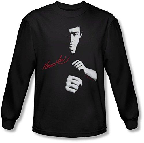 Bruce Lee - - Le dragon des hommes attend shirt manches longues en noir, Large, Black