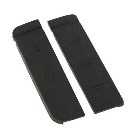 Homyl 2X Copertura Caso Gomma Laterale Porta USB Esterno per Canon EOS 7d Interfaccia