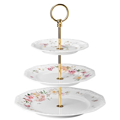 Rosenthal 10430-407165-25300 Etagère Porcelaine Rose 27,9 x 27,5 x 8,80 cm
