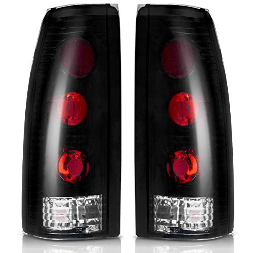 Taillights Compatible with Chevy Blazer 1992-1994, Chevrolet Suburban Tahoe 1992-1999, GMC Suburban Yukon C/K Pickup 1988-2000, Cadillac Escalade 1999-2000 Smoke (FITS BARN DOOR & LIFT GATE ONLY)