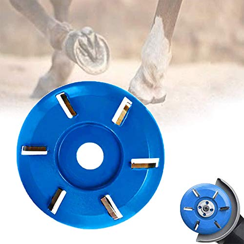 Disco de Recorte de pezuñas de Ganado, Cuchillas de Recorte de pezuñas Caballo Herrador Pezuña Recortar Herramienta para Caballos, Vacas y Cabras