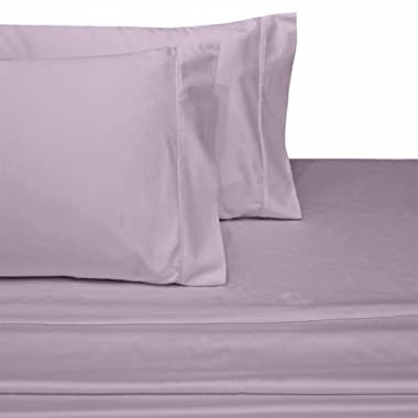 Mayfair Linen 100% EGYPTIAN COTTON Sheets, LILAC QUEEN Sheets Set, 800 THREAD COUNT Long Staple Cotton, SATEEN Weave for Soft and Silky Feel, Fits Mattress upto 18'' DEEP Pocket