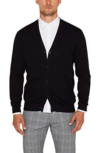 ESPRIT Herren 089Ee2I002 Pullover, Schwarz (Black 001), (Herstellergröße: XX-Large)
