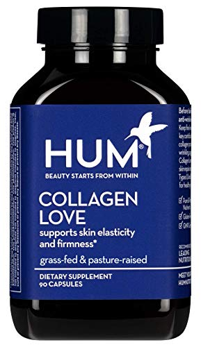 HUM Collagen Love - Type I & III Collagen Peptides Skincare Supplement with Hyaluronic Acid & Vitamin C - Support Skin Firmness & Help Visibly Minimize Signs of Aging (90 Capsules)