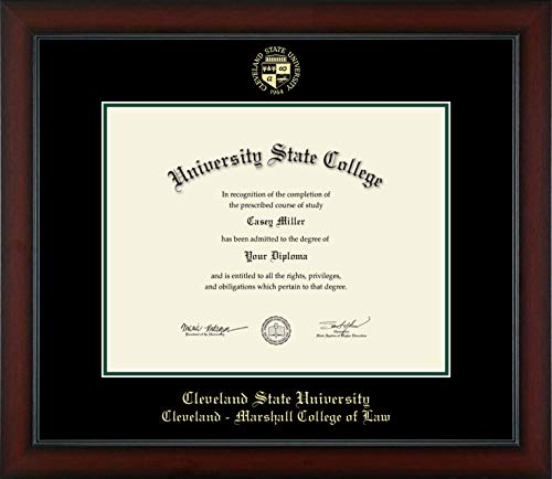 "Cleveland State University Cleveland - Marshall College of Law - Officially Licensed - Gold Embossed Diploma Frame - Diploma Size 14"" x 11"""