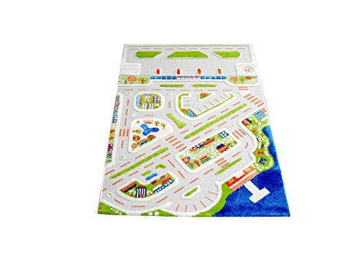 Little Helper 121MD034100150 IVI Hypoallergener Dicker 3D-Kinderspielteppich, 100 x 150 cm, mehrfarbig