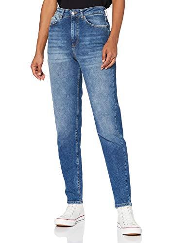 Only ONLVENEDA Life MOM Jeans REA844 Noos Pantalons, Dark Blue Denim, L/32 Femme