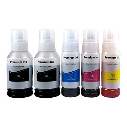 Kamo 102 103 104 Tinte Multipack Kompatibel mit Epson 102 103 104 Tintenflasche; EcoTank ET-4750 ET-3750 ET-2750 ET-2700 ET-15000 ET-4700 ET-2710 ET-2720 L5190 L3160 L3156 L3150 L3116 L3110 L1110